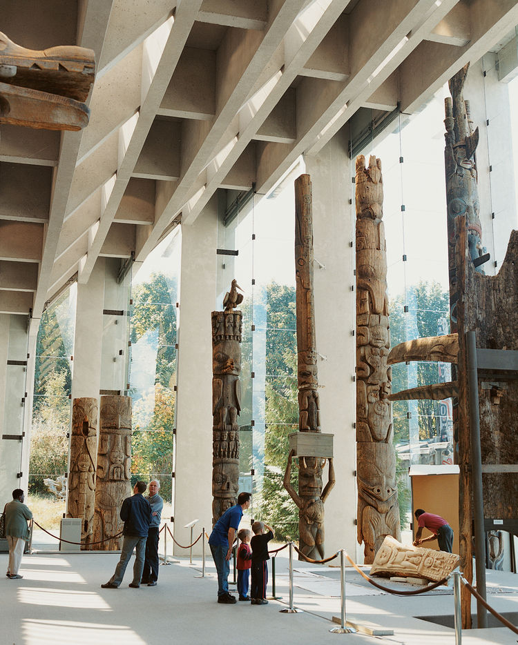 The interior of the Museum of Anthropology, created by Vancouver architect Arthur Erickson.
