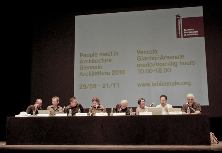 """The setting of the Arsenale is a beautiful way to maximize the character of each participant. People come here and meet architecture, and architecture meets people,"" said Biennale Director Kazuyo Sejima at one of the symposiums held on Saturday.  One gre"