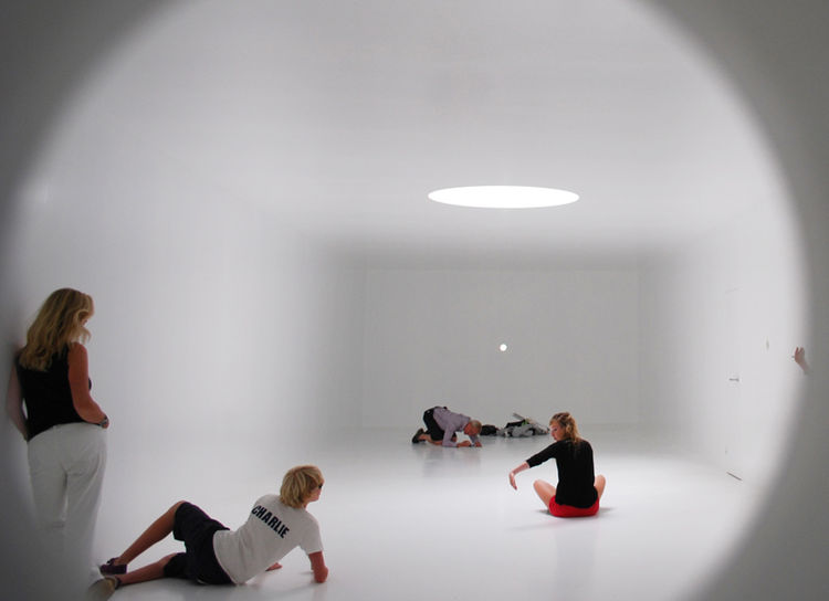 "One of my personal favorites, the Romanian Pavilion ""1:1"" was an ethereal white shell inside of a white shell. Designed for one person to enter at a time, the 1012-square-foot interior space literally represented the amount of space per person in Buchares"