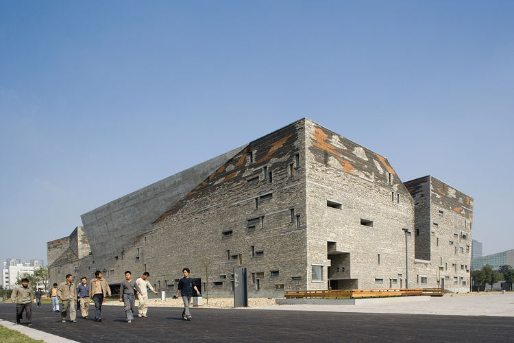 Like some kind of abstracted stone fort, the Ningbo History Museum in Ningbo, China, seems to have come from both the future and the deep past. Amateur Architecture Studio worked on the project from 2003-2008. Photos by Lv Hengzhong courtesy of Amateur Ar