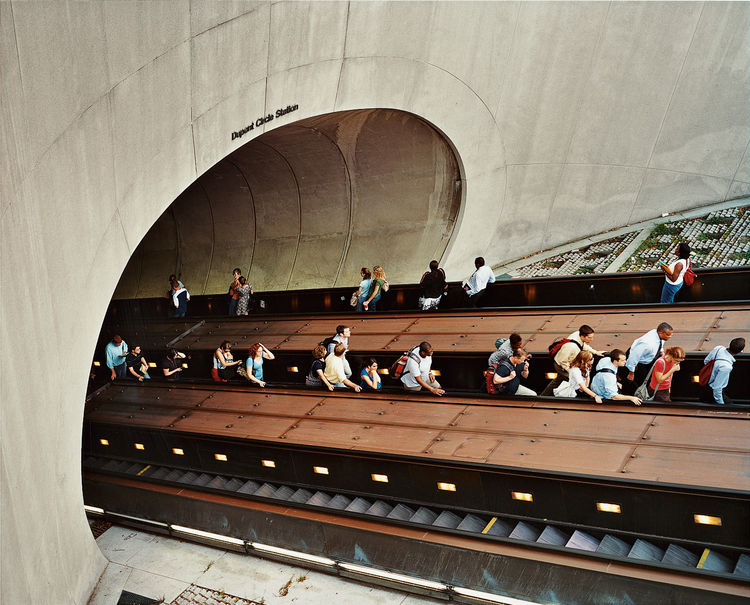 The perilous descent into Dupont Circle's Metro station from the Q Street NW entrance is a popular photo opportunity.