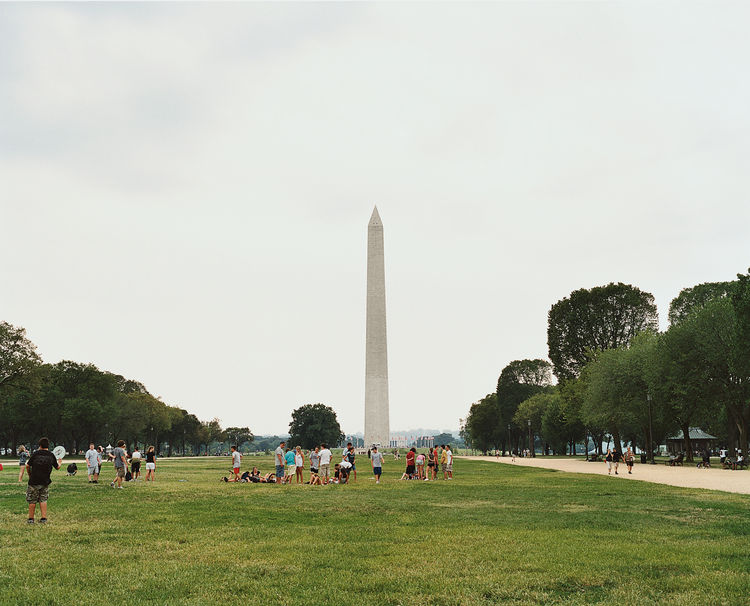 """Moeller calls the National Mall  """"a great big void."""" The Smithsonian museums and federal institutions that ring the central green attract all manner of tourists."""