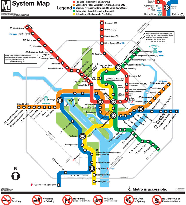"<h3>Washington, D.C.</h3> Vignelli's schematic spirit lives on strongly in the nation's capital, as the Italian-born designer advised designer <a href=""http://www.lancewyman.com/"">Lance Wyman</a> on his 1976 schematic for the Washington Metro, a design th"