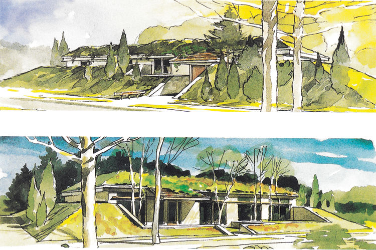 Wells' exterior designs for two houses with the same floor plan were published by <i>Popular Science</i> in 1989.