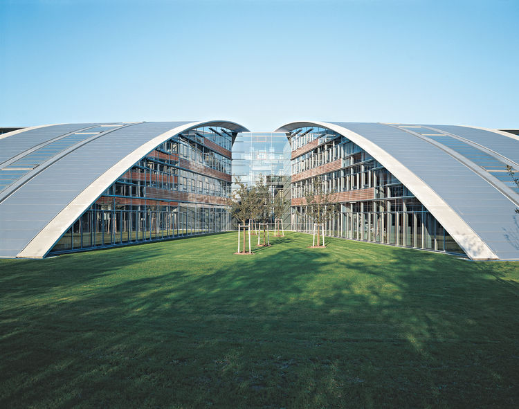Burda Media Park, completed in 2000, was, like most of Sobek's projects, a collaboration. Sobek didn't design the building, but, rather, assisted in the structural engineering of the load-bearing structure.
