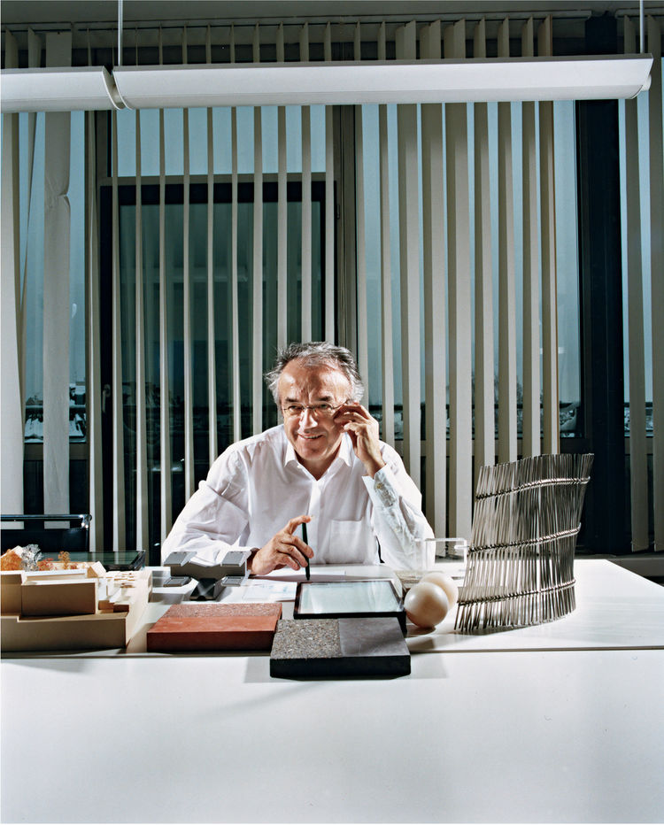 Werner Sobek in his office.