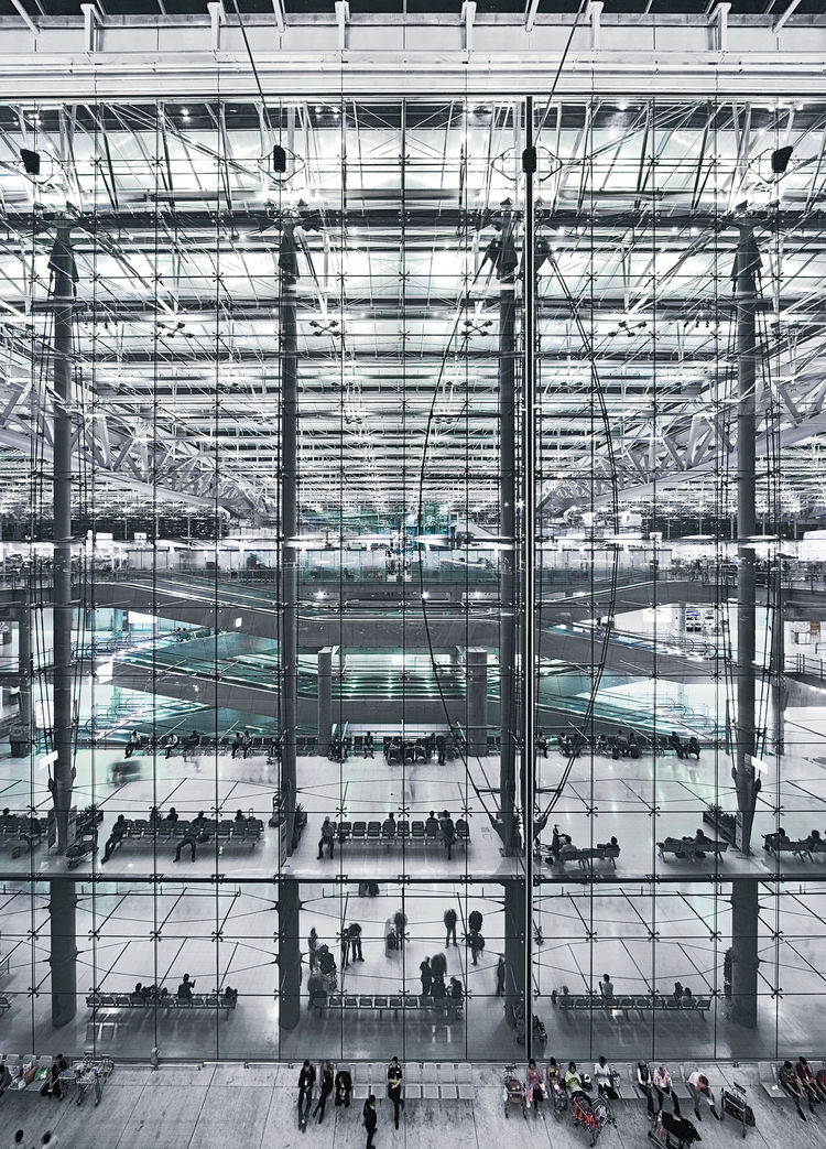 For the Suvarnabhumi International Airport in Bangkok, designed by Murphy/Jahn Architects, Sobek created a patented membrane that allows natural light in but keeps heat and noise out.
