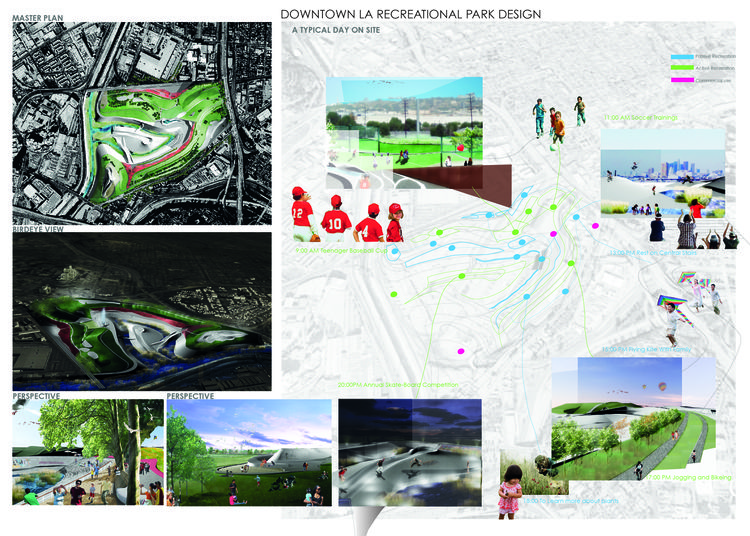 Graffiti LA, a design for a downtown park in Los Angeles, by University of Southern California landscape architecture student Can Liu.