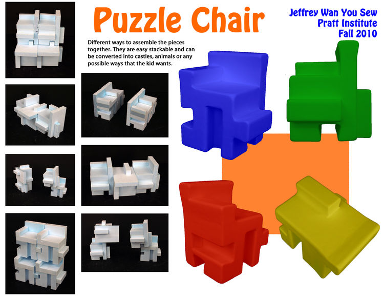 """Puzzle Chair"" by Pratt student Jeffery Wan."
