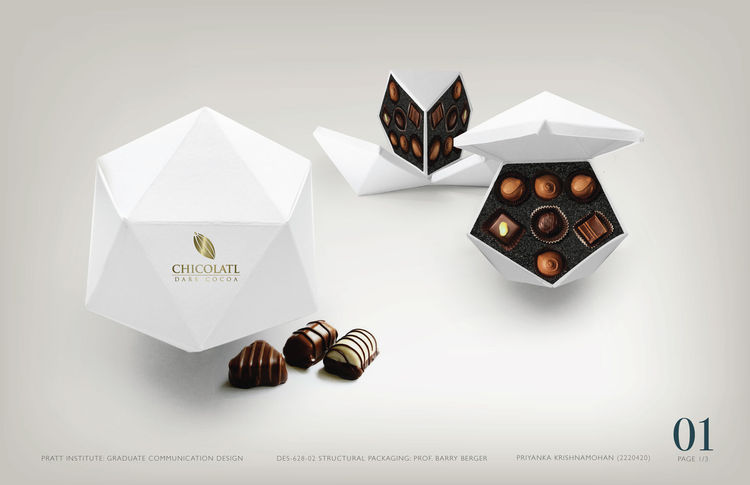 Chocolate Box, 2010, by Pratt Institute student Priyanka Krishnamohan, who is pursuing a degree in Communication Design with a Packaging Design emphasis.