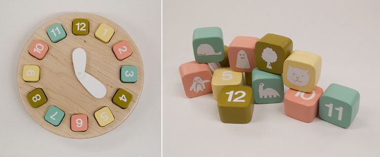 Timeless, a maple toy clock created by Charlie McArthur, a student of SAIC's Master of Design in Designed Objects program.