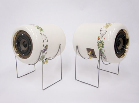 Ceramic speakers, by Emily Carr University of Art & Design industrial design student Tom Chung.