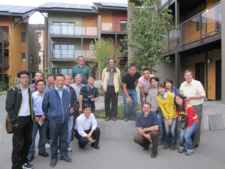 We had several overseas tour groups visit zHome. This Taiwanese group included a number of academics and architects.