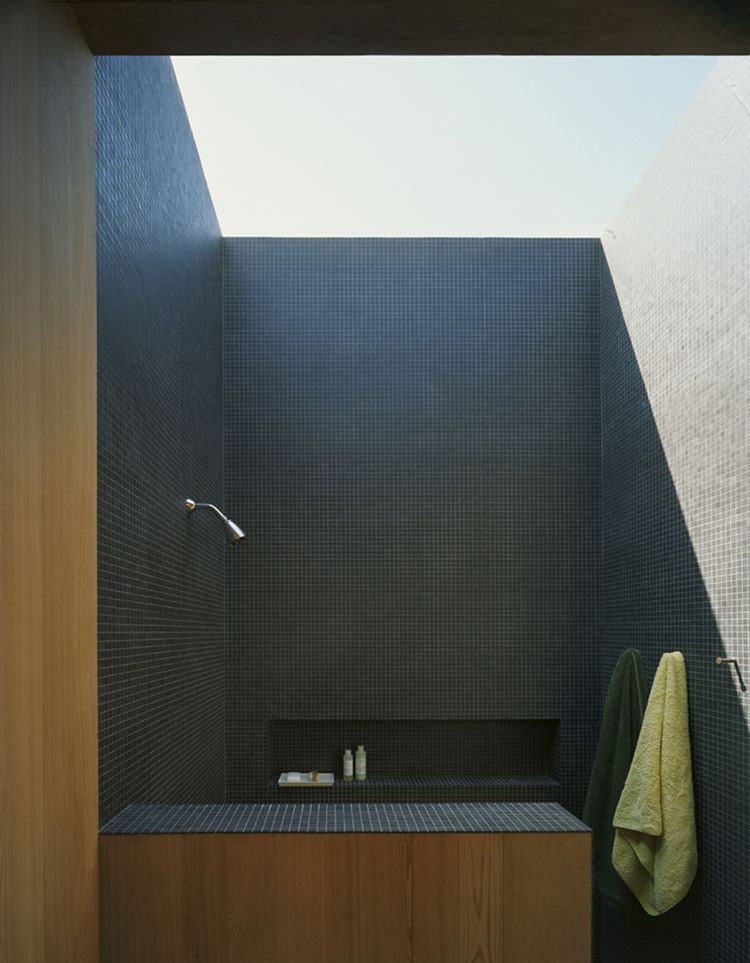 "The house was conceived as a summer home, to take advantage of the sounds, breezes, views and lighting – even in the shower. Courtesy <a href=""http://architectsandartisans.com/"">Architects and Artisans</a>."