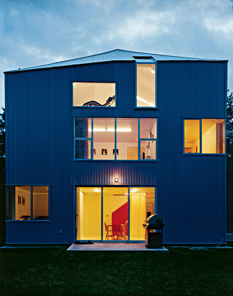 Steel house in Puyallup, Washington