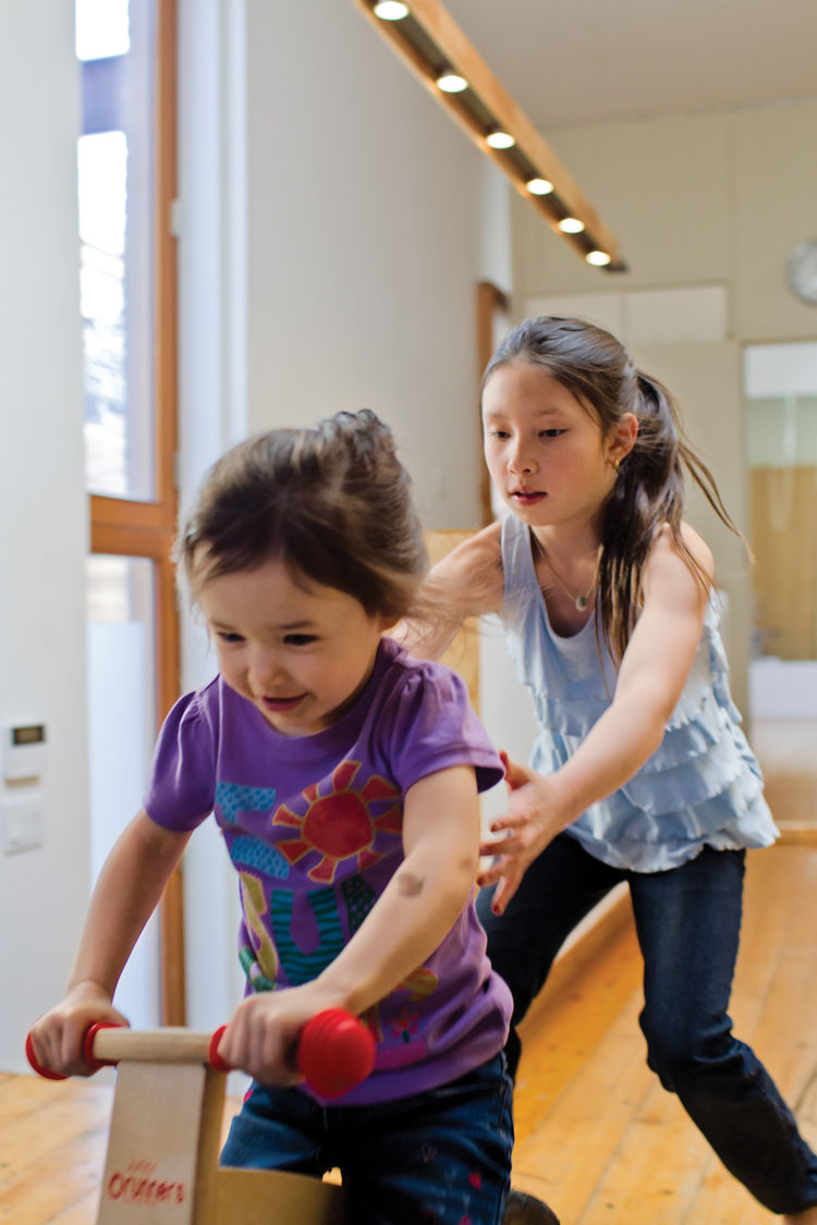 Daughters Uma and Maelle have the run of the house.