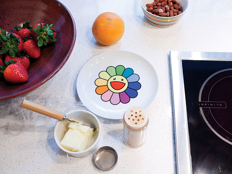 This limited-edition ceramic plate by artist Takashi Murakami was specially commissioned for the Walker Art Center.