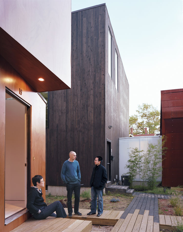 Four modern houses in Cambridge, Massachussets