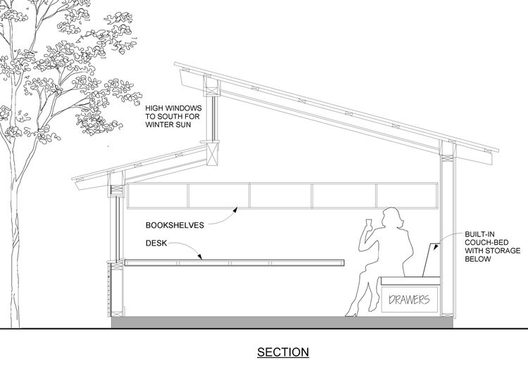 "The section shows the simple, efficient interior elevation. Image courtesy <a href=""http://www.deedsdesign.com"">Deeds Design</a>"