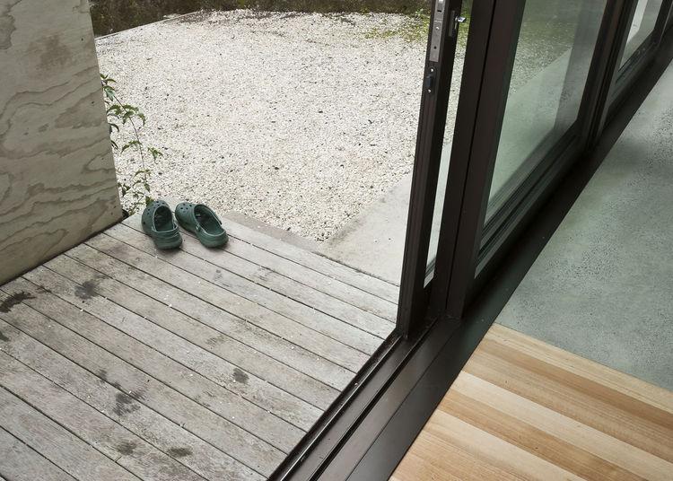 Modern inside and outside deck