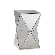 Faceted mirror table by west Elm