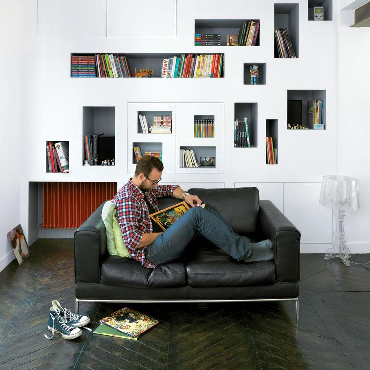 bookshelf, comics, paris, h20 architects