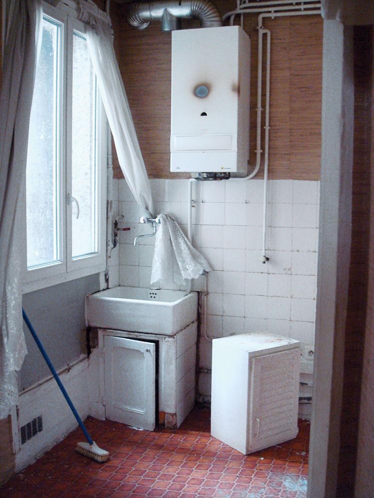 The bathroom, before renovation.