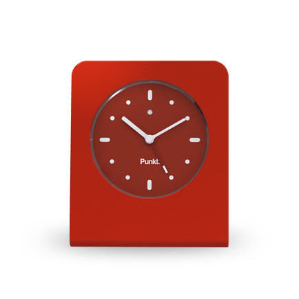Modern red alarm clock by Jasper Morrison for Punkt.