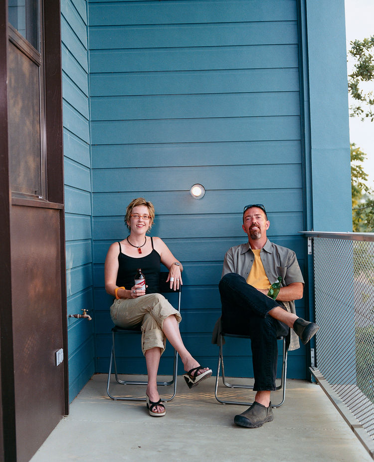 """Julie Charvat (with Byron Mouton) says, """"Byron wanted us to move here ourselves for the views, but I said, 'We just moved a few years ago so forget it.'"""""""