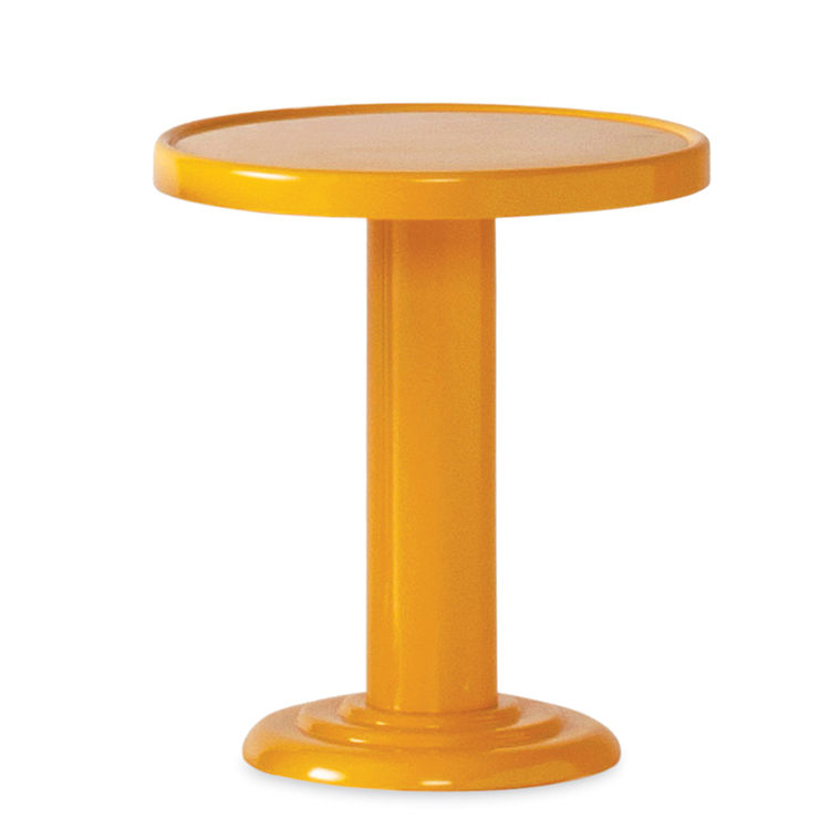 modern orange end table