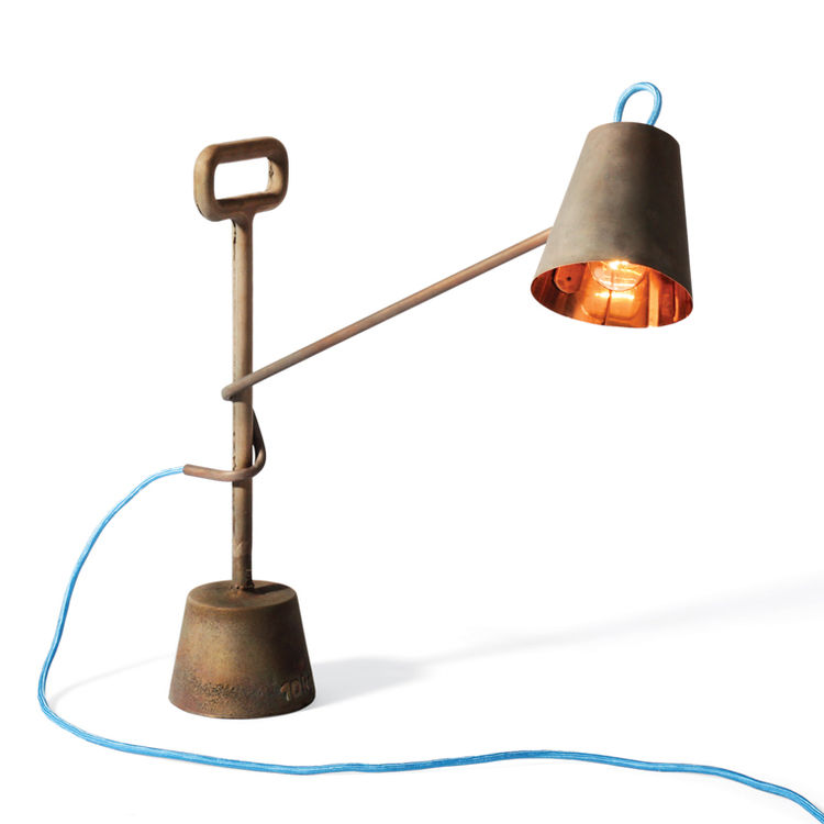 Copper lamp 10 KG by Tobias Seiber and Samuel Treindl