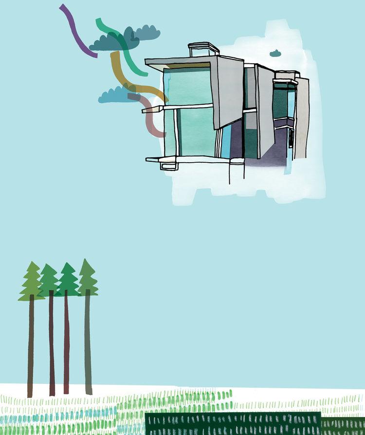 Panel house illustration