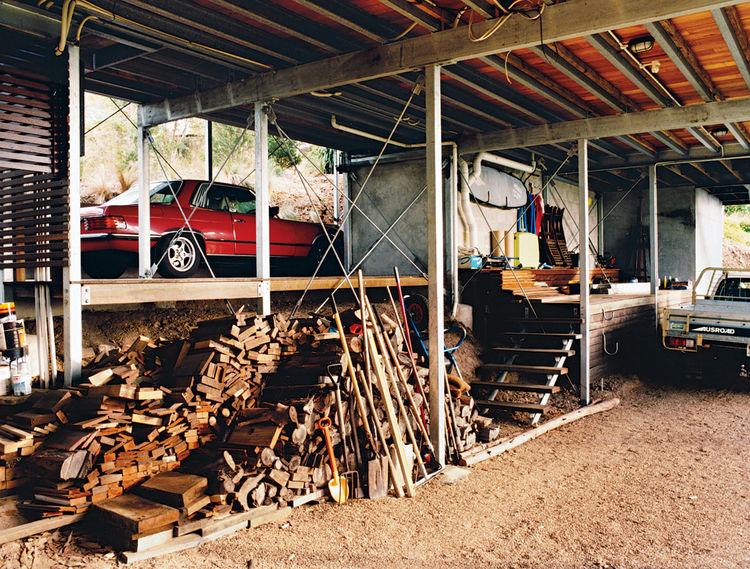 The outdoor storage area is a nod to traditional Queensland architecture.