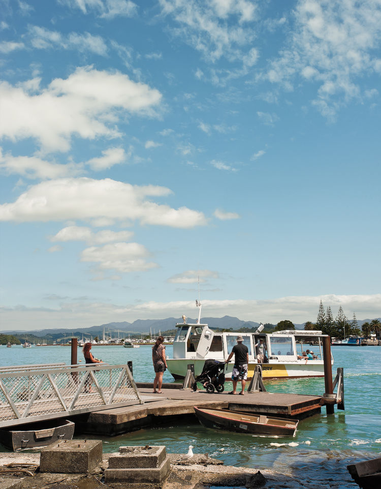 Modern dock leading into The Maramaratotara Bay ferry