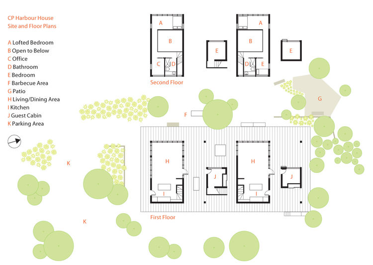 Communal living vacation home floor plan