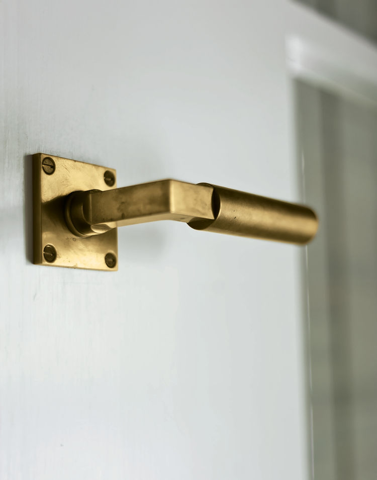 Thick brass doorknob