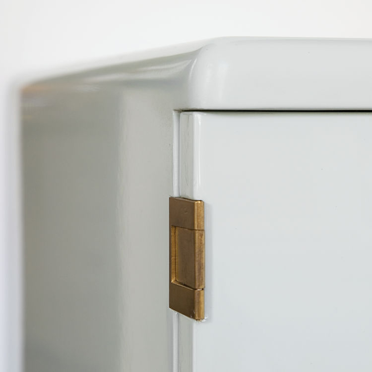 Custom Bisazza Bagno cabinet with brass hardware