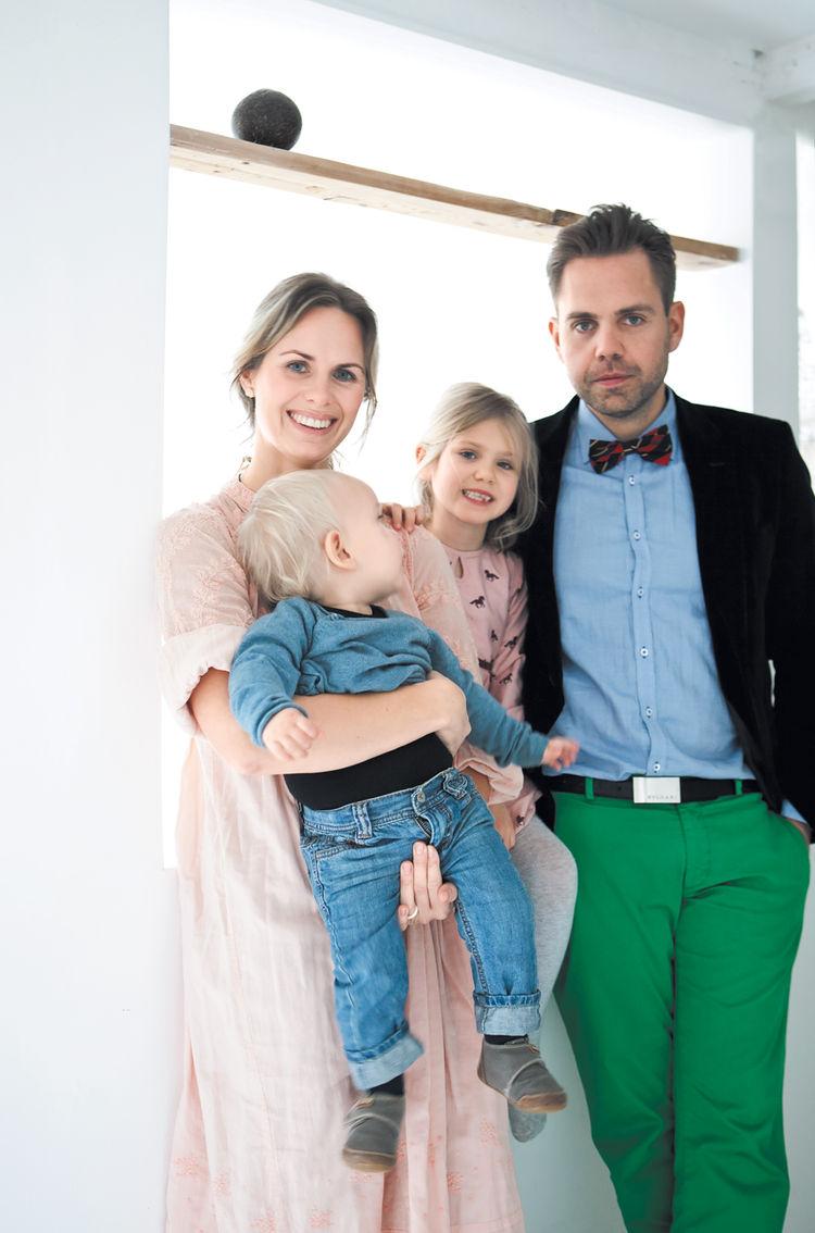 Peter Ostergaard Asa Olofsson family portrait