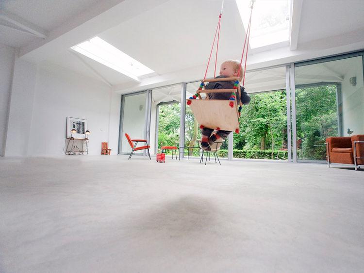 Modern indoor baby swing