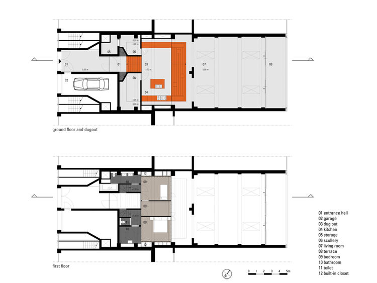 Floor plan for the Parksite Residence in Rotterdam Netherlands