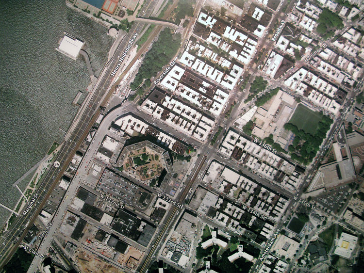 The Harlem Edge: Cultivating Connections exhibition aerial map