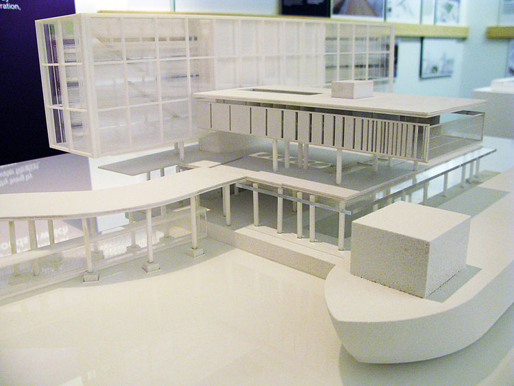 The Harlem Edge: Cultivating Connections exhibition architectural model