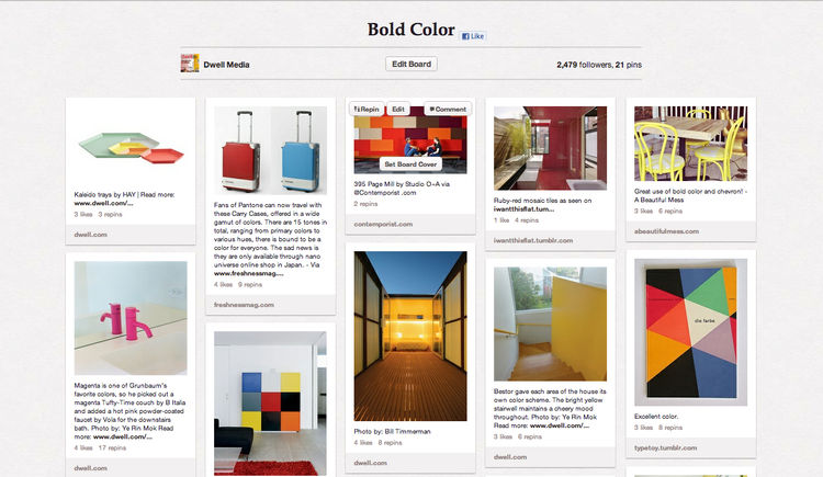 Bold Color Dwell Pinterest board