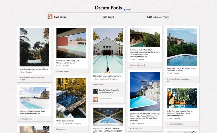 Dream Pools Dwell Pinterest Board