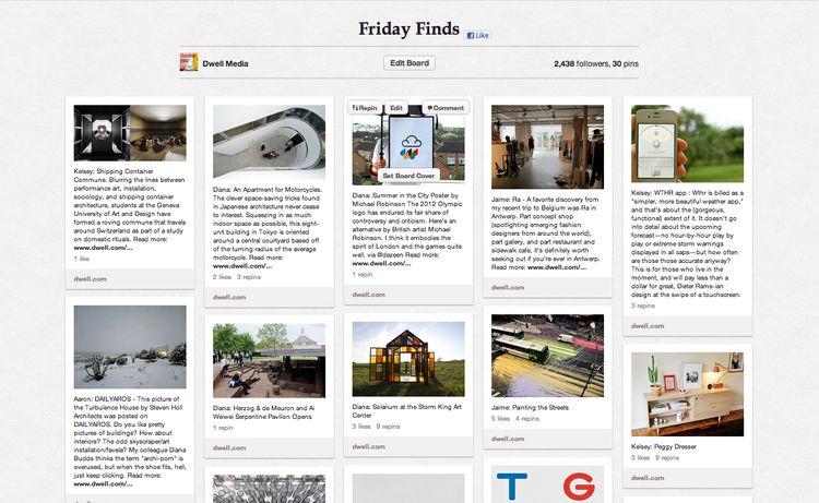 Friday Finds Dwell Pinterest Board