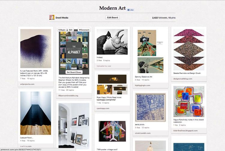 Modern Art Dwell Pinterest board
