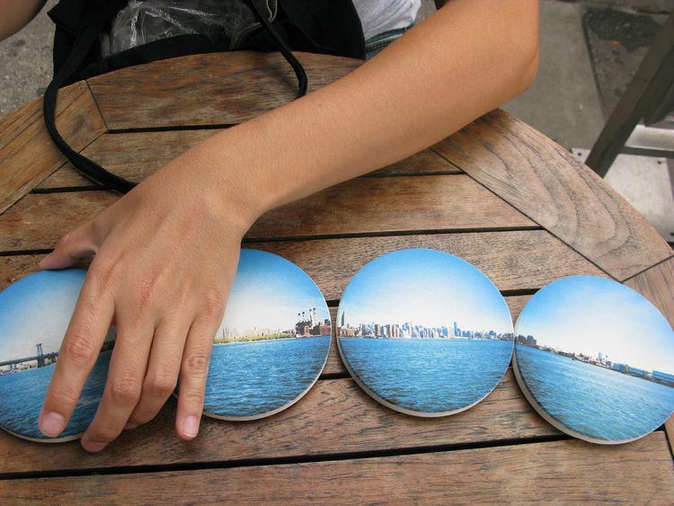 Modern blue coasters by Coastermatic