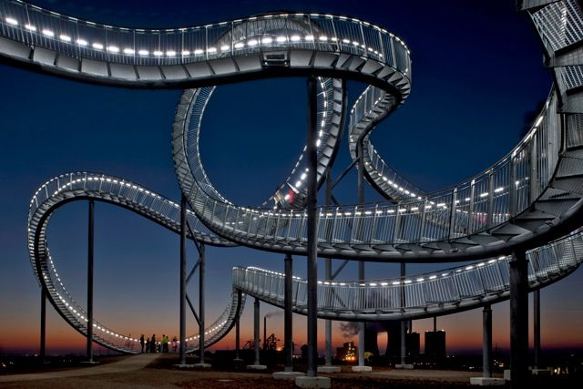 Tiger & Turtle Magic Mountain in Dusiburg, Germany, by Heike Mutter and Ulrich Genth.