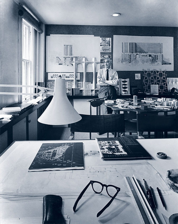 Charles Goodman in his Washington, D.C. office during the 1950s.