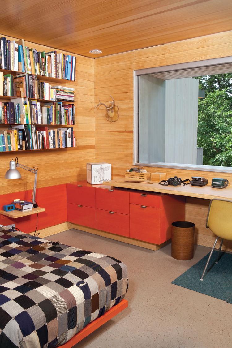 Modern boys bedroom with custom-designed furniture